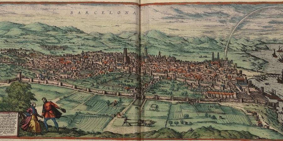 Barcelona en un dibuix de l'any 1572